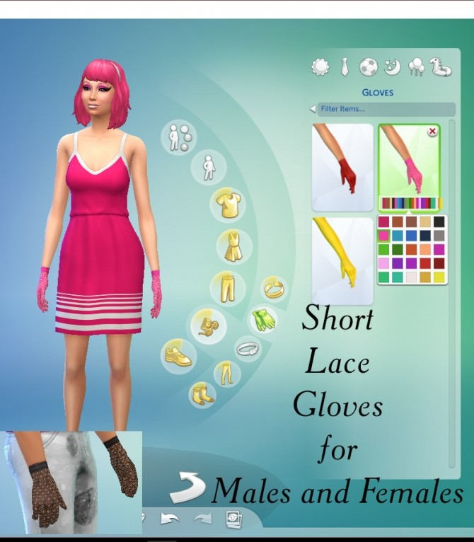 Short Lace Gloves by Simmiller at Mod The Sims image 5214 670x766 Sims 4 Updates