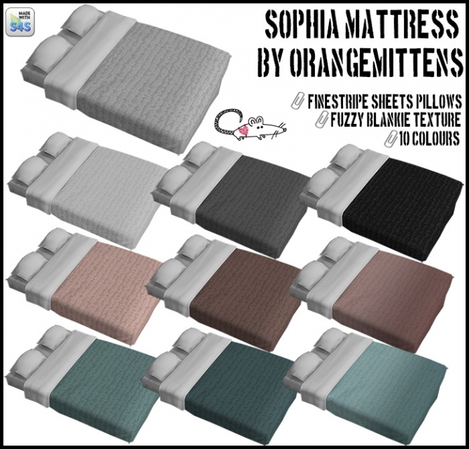 Orangemittens Sophia Mattress Recolors At Loverat Sims4