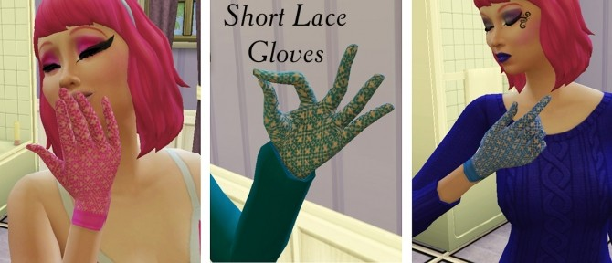 Sims 4 Short Lace Gloves by Simmiller at Mod The Sims