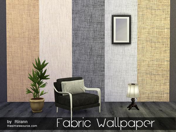 Sims 4 Fabric Wallpaper by Rirann at TSR