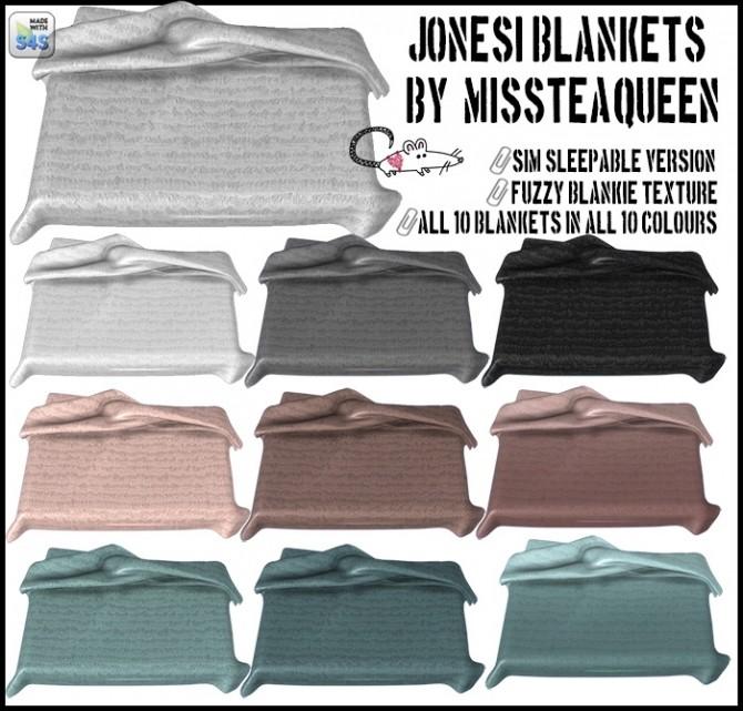 Sims 4 MissTeaQueens Jonesi blanket conversions at Loverat Sims4