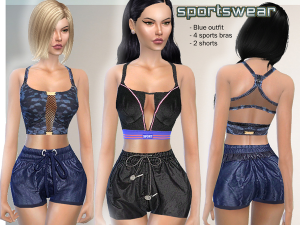 Sims 4 Sportswear set by Puresim at TSR