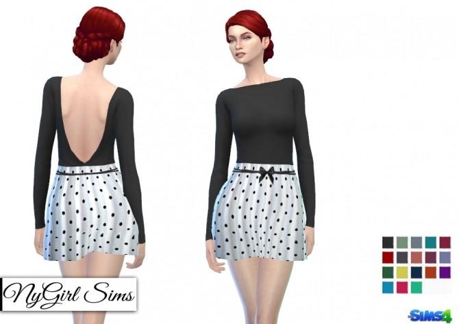 Sims 4 Backless Polka Dot Dress at NyGirl Sims