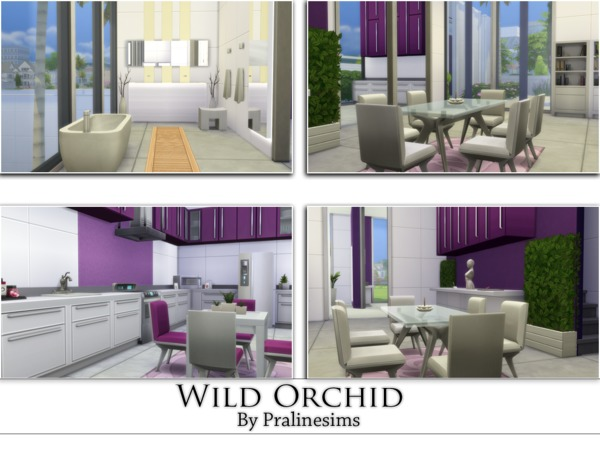 Wild orchid house by pralinesims at tsr sims 4 updates for Wild orchid furniture
