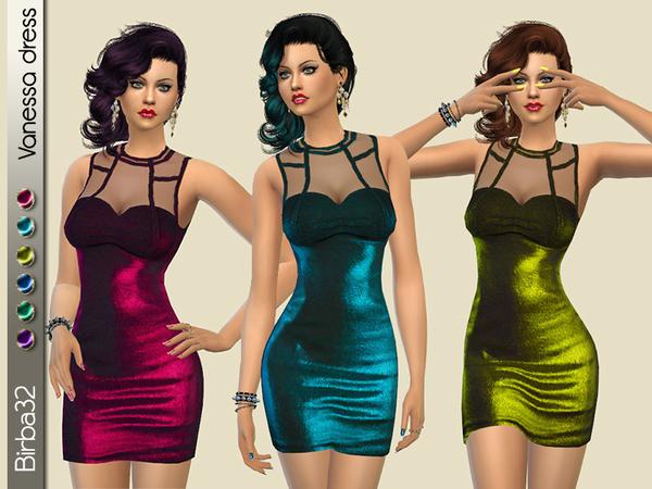 Vanessa dress by Birba32 at TSR image 550 Sims 4 Updates