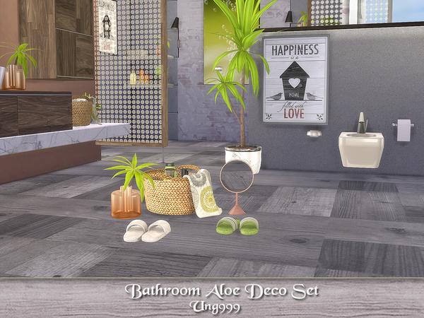 Sims 4 Bathroom Aloe Deco Set by ung999 at TSR