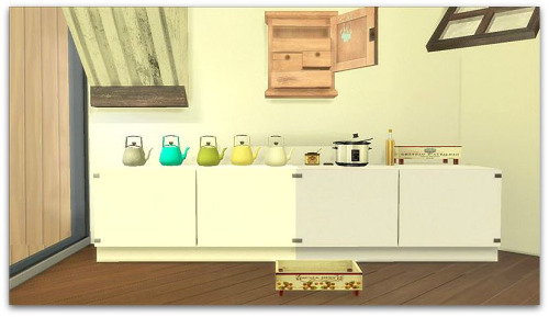 Sims 4 2 to 4 Conversion of Billyjean White Vintage Set at Cool panther Sims 4 Haven