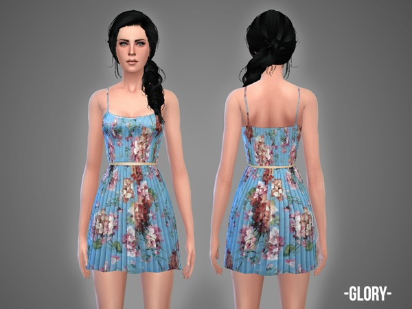Sims 4 Glory dress by April at TSR