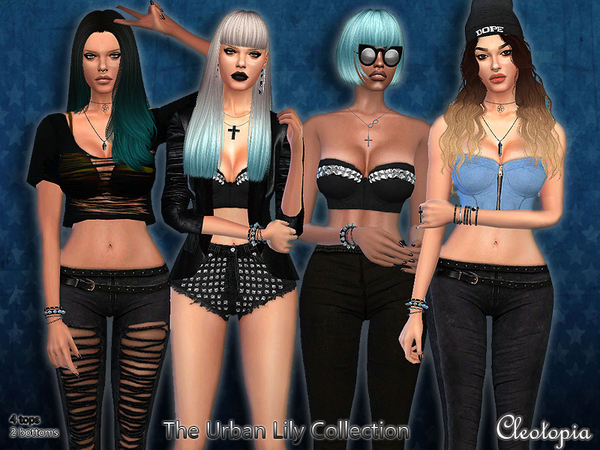 Sims 4 The Urban Lily Collection by Cleotopia at TSR