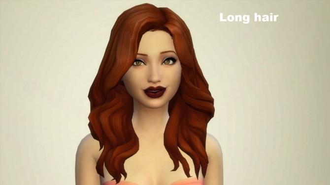 Sims 4 Hair edits at Wildspit