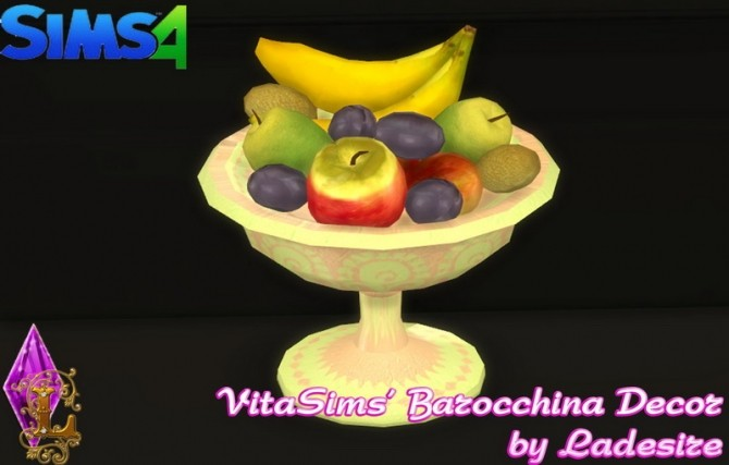 Sims 4 VitaSims Barocchina Decor Set at Ladesire