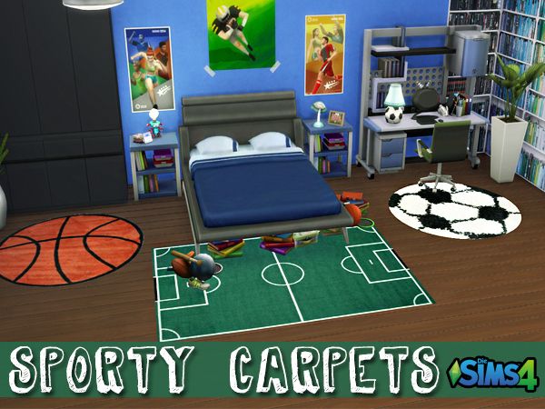 Sims 4 Sporty Carpets by Waterwoman at Akisima