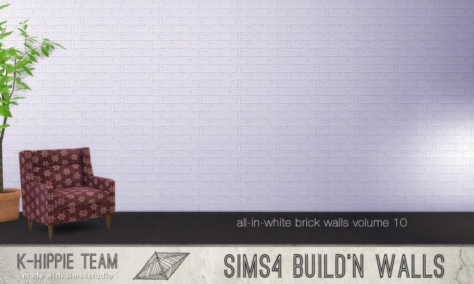 7 Brick Walls All White volume 10 at K hippie image 597 670x402 Sims 4 Updates
