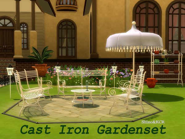 Cast Iron Gardenset by ShinoKCR at TSR image 598 Sims 4 Updates