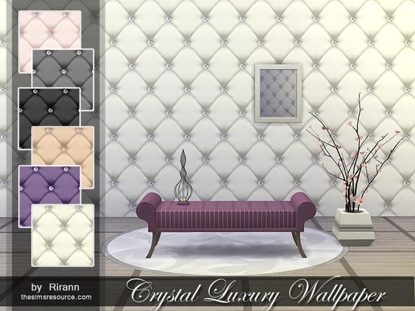 Sims 4 Crystal Luxury Wallpaper at TSR
