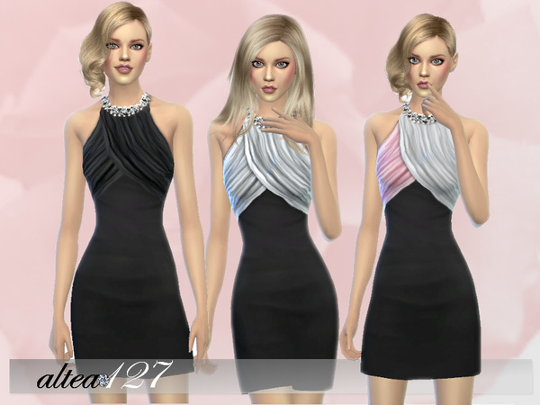 Sims 4 Simple Elegance dress by altea127 at TSR