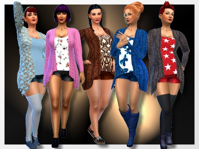 Cardigans by Oldbox at All 4 Sims image 6021 Sims 4 Updates