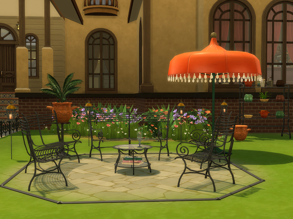 Cast Iron Gardenset by ShinoKCR at TSR image 609 Sims 4 Updates
