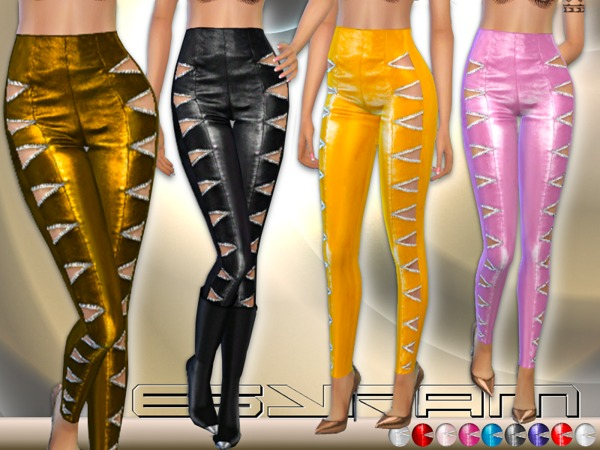 Sims 4 Nappa Leather Pants by EsyraM at TSR
