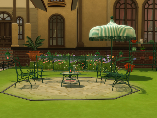 Cast Iron Gardenset by ShinoKCR at TSR image 6113 Sims 4 Updates
