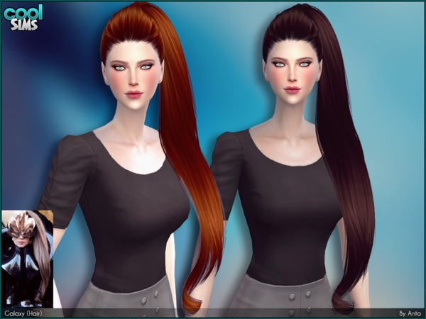 Sims 4 Anto Galaxy Hair by Alesso at TSR