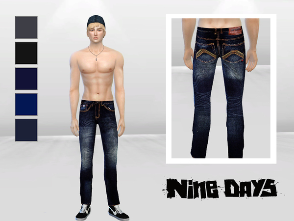 Sims 4 Bad Xtian Slim Jeans by McLayneSims at TSR