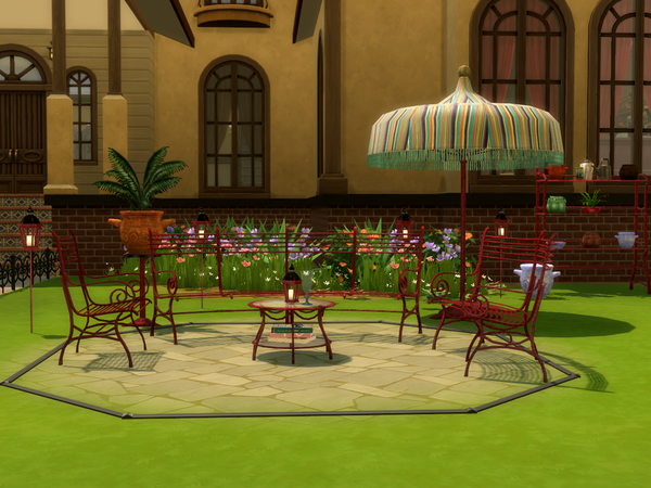 Cast Iron Gardenset by ShinoKCR at TSR image 6210 Sims 4 Updates