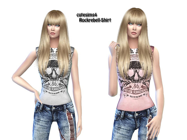 Rockrebell Outfit by sweetsims4 at TSR image 6219 Sims 4 Updates