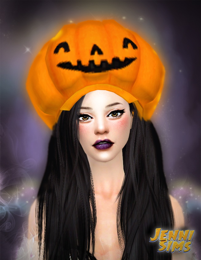 Sims 4 Funny and silly Halloween hats at Jenni Sims