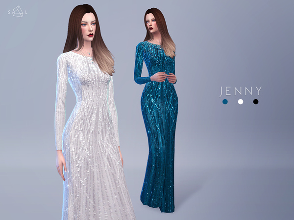 JENNY Evening Gown by starlord at TSR image 632 Sims 4 Updates
