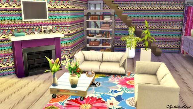 Sims 4 13 Bohemia Walls at Mandarina's Sim World