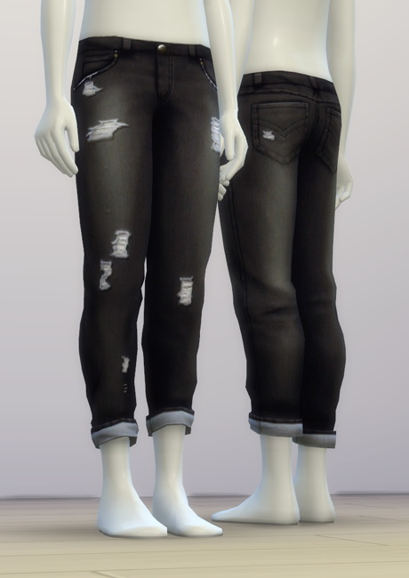 SP03 Distressed Jeans Edit M at Rusty Nail image 6514 Sims 4 Updates