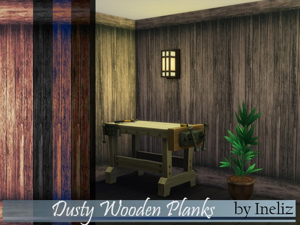 Dusty Wooden Planks by Ineliz at TSR image 653 Sims 4 Updates