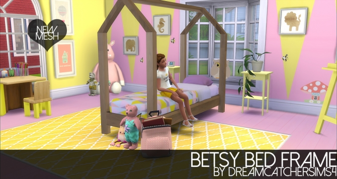 Betsy Bed Frame At Dreamcatchersims4 187 Sims 4 Updates