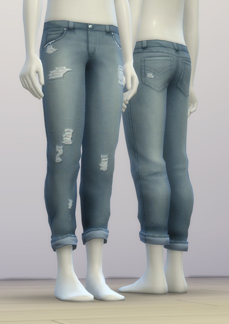 SP03 Distressed Jeans Edit M at Rusty Nail image 6614 Sims 4 Updates