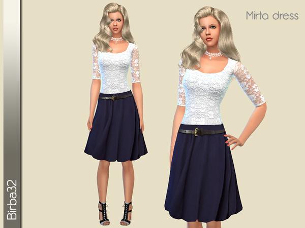 Sims 4 Mirta dress by Birba32 at TSR