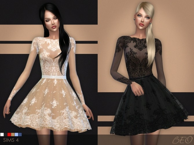 Lace short dress by BEO at BEO Creations image 6812 670x503 Sims 4 Updates