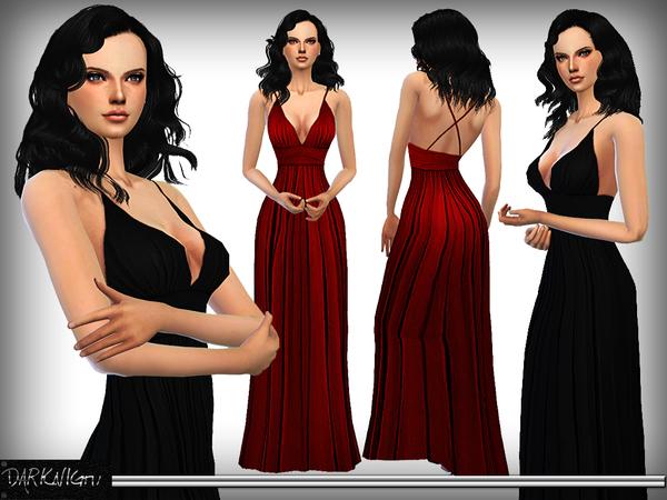 Silk Evening Gown by DarkNighTt at TSR image 690 Sims 4 Updates