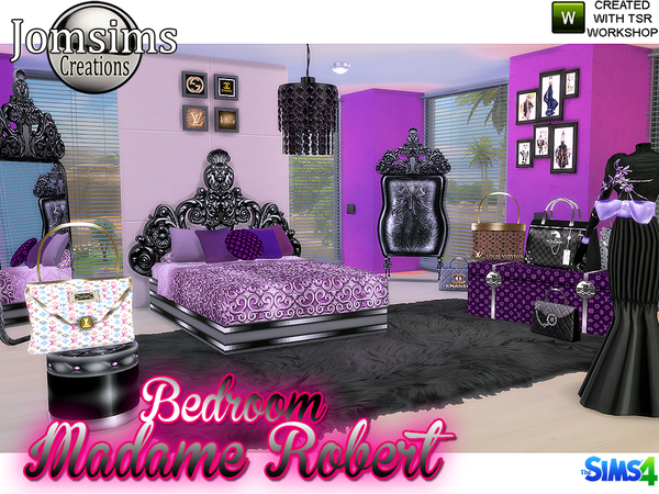 Madame robert Bedroom Baroque modern by jomsims at TSR image 6910 Sims 4 Updates
