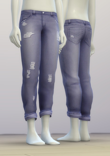 SP03 Distressed Jeans Edit M at Rusty Nail image 6911 Sims 4 Updates