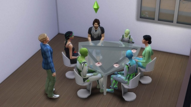 Futuristic triangular table and chair by necrodog at Mod The Sims image 6914 670x377 Sims 4 Updates