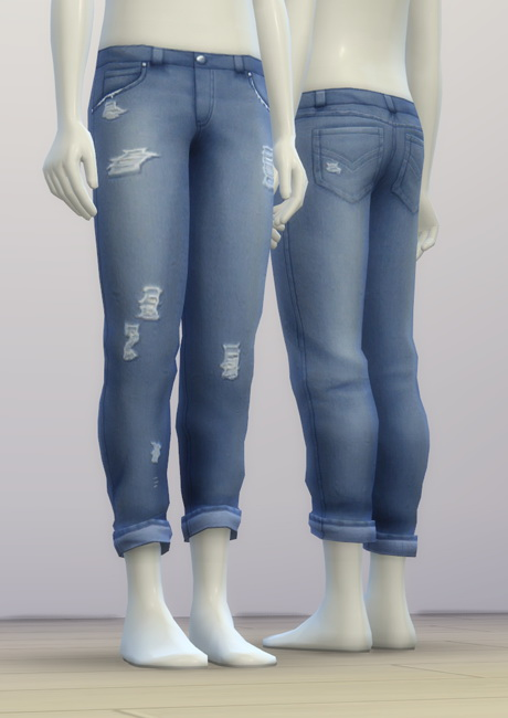 SP03 Distressed Jeans Edit M at Rusty Nail image 7013 Sims 4 Updates