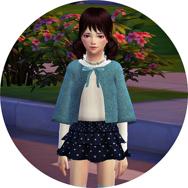 Sims 4 Child cape coat & tiered skirt at Marigold