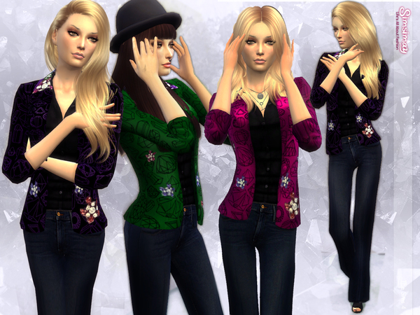 Sims 4 Reflection Set # 2 Dazzling Outfit by Simsimay at TSR