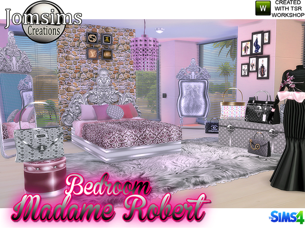 Madame robert Bedroom Baroque modern by jomsims at TSR image 7117 Sims 4 Updates