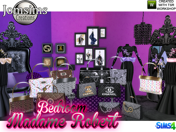 Madame robert Bedroom Baroque modern by jomsims at TSR image 7214 Sims 4 Updates
