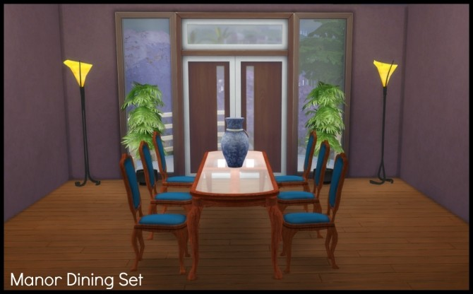 Sims 4 TS2 to TS4 Manor Dining Set by Elias943 at Mod The Sims