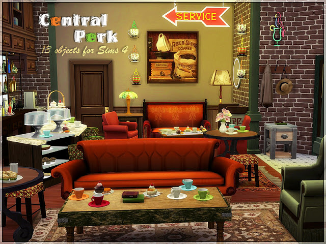 Central Perk set by Li.Ko at Sims Studio image 734 Sims 4 Updates
