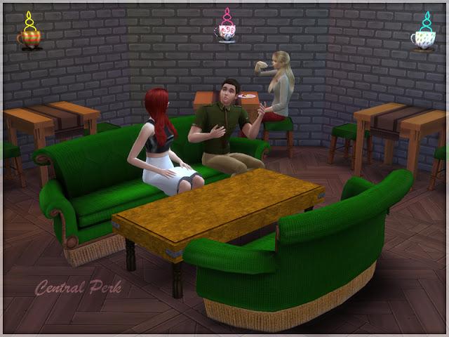Sims 4 Central Perk set by Li.Ko at Sims Studio