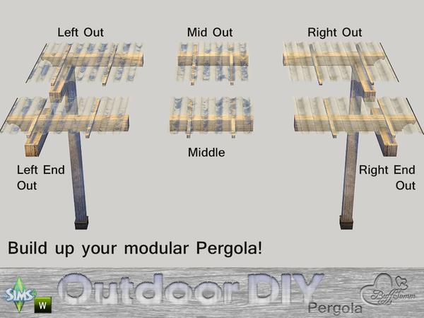 DIY Modular Pergola by BuffSumm at TSR image 771 Sims 4 Updates